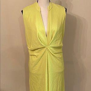 NWT Zara green/yellow dress size S